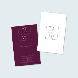 Tarjetas de visita 8,5 x 5 cm